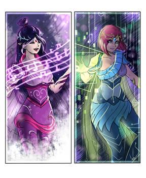 Winx Club Sketches - Musa and Tecna