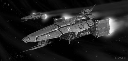 MarkII Lancespree gunship by ConnorDiver