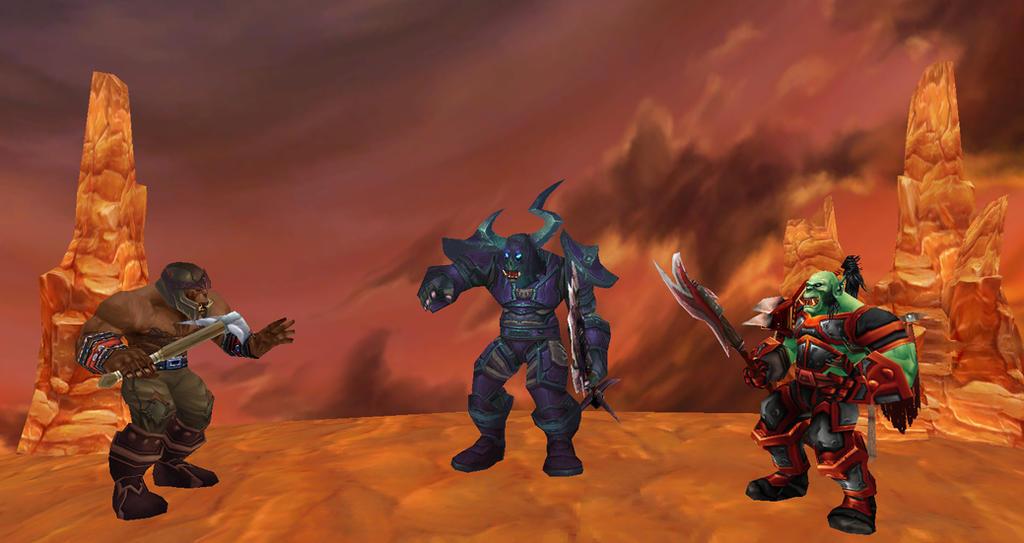 Executioner Grondel, Foreman Drig and Grunt Walgar by thewarlock66