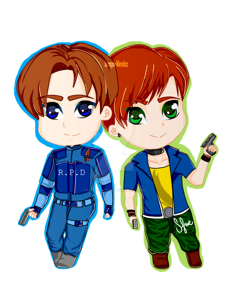 Chibi Leon and  Steve