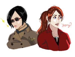 Pixelart: Ada And Claire