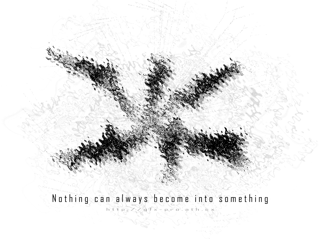 Nothing can be something