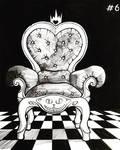 The throne of the queen of hearts