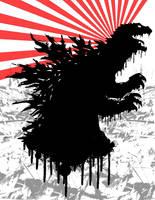 Godzilla by deathrider1551