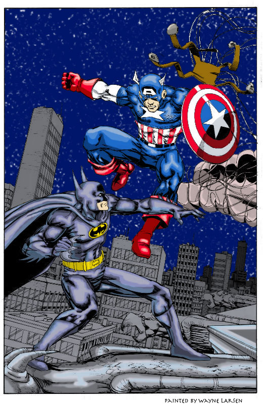captain america vs batman by deathrider1551 on deviantart
