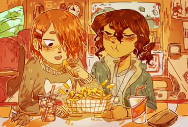 Cheese fries by GhostlyStatic