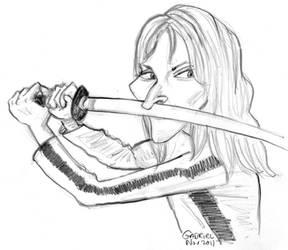 Kill Bill...Uman Thurman sketch by big-nose-art