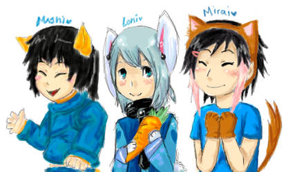 The three friends by Lonina