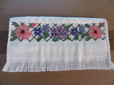 Flowered Hand-Towel