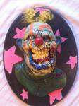 yellow hair clown plaque