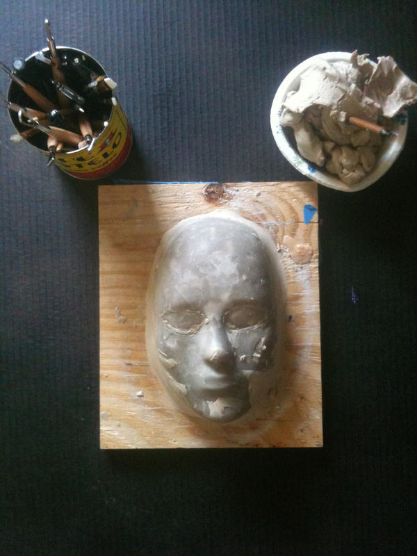 my mask armature by UglyBabyEater