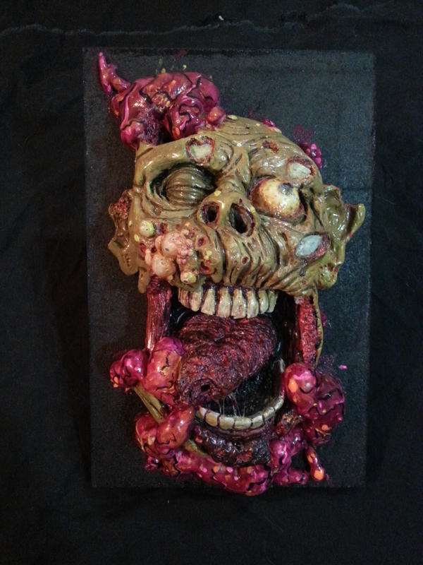 zombie trophy wall art by UglyBabyEater