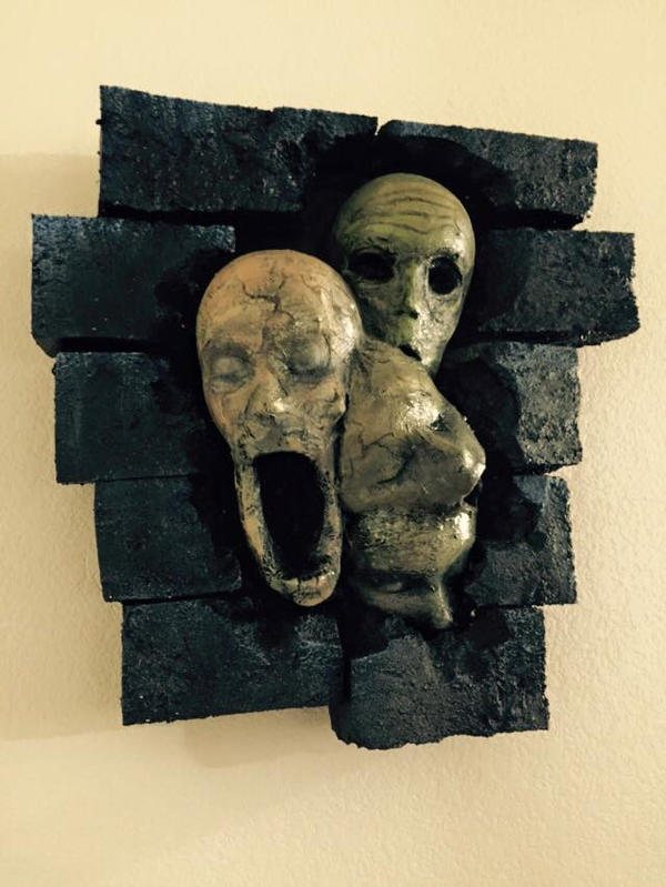 horror wall decor by UglyBabyEater