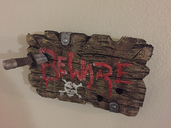 beware foam sign wall decoration by UglyBabyEater