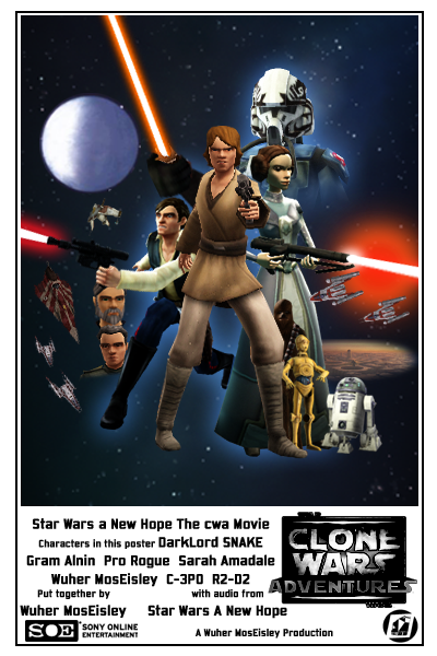 Star wars a new hope the cwa movie poster by wuhermoseisley