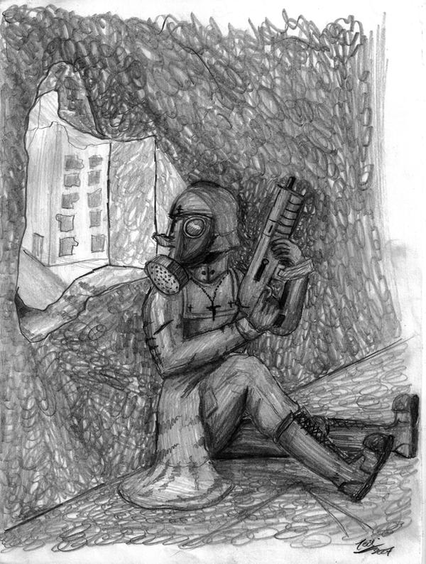 Christian Soldier scribble by Cruzio