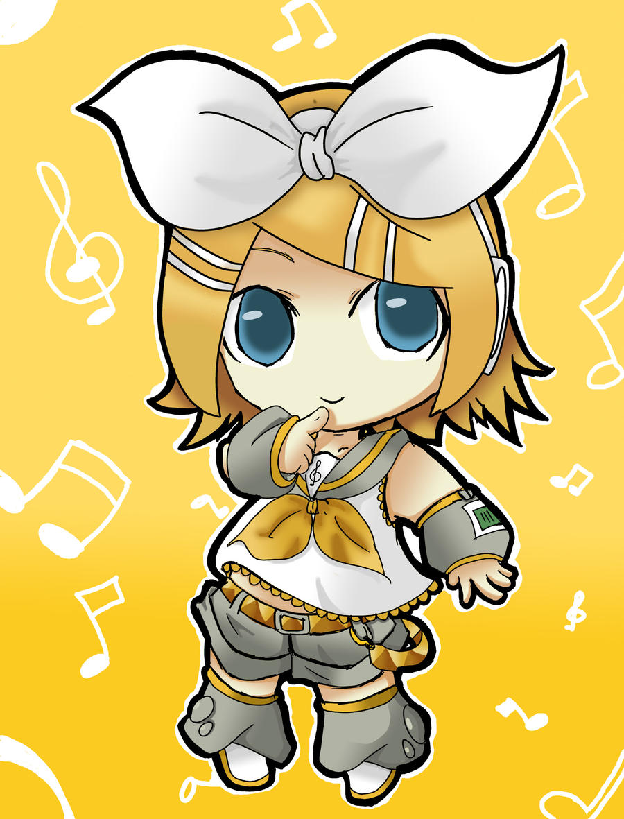 Rin Kagamine in chibi ver by SHiNgEtSu-MaNgEtSu on DeviantArt