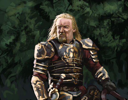 King Theoden: Speedpainting by ReneAigner
