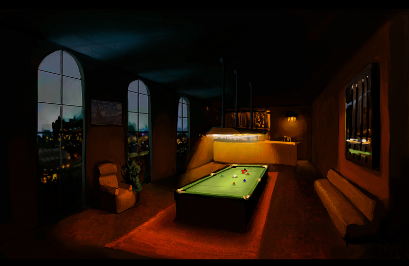 Billard Room by ReneAigner