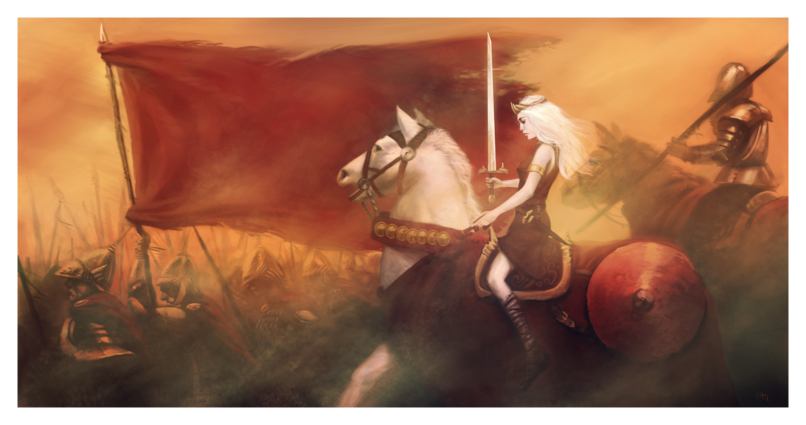 A Queen Riding to War by ReneAigner