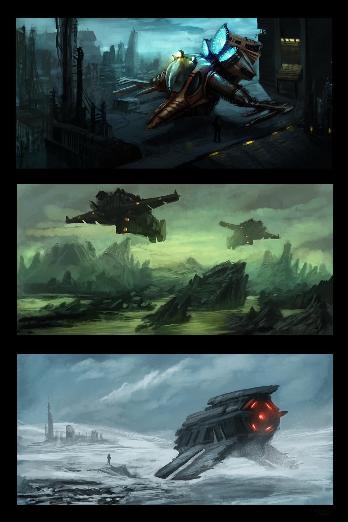 Speedpaintings: SciFi by ReneAigner