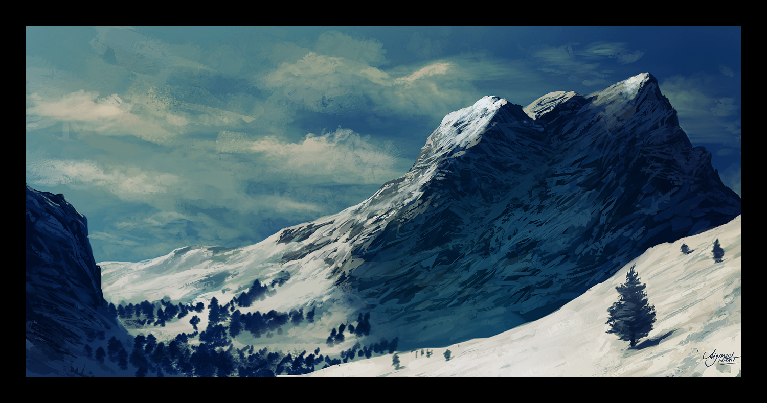 Speedpainting- The Alps by ReneAigner
