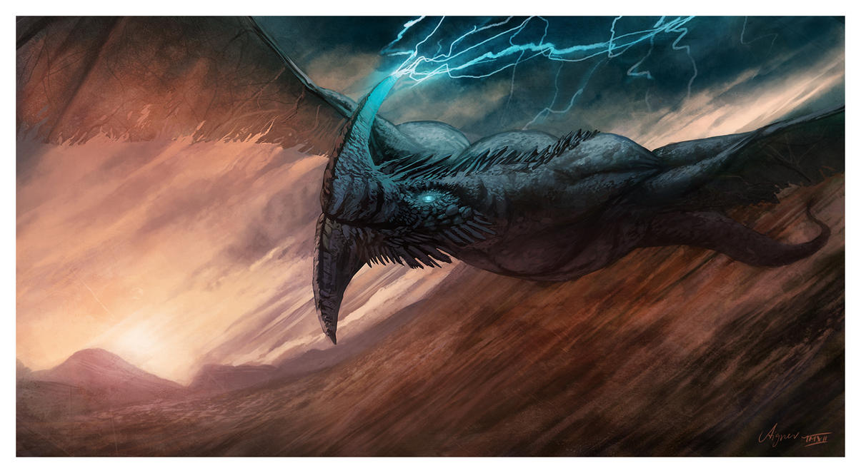 Storm Dragon by ReneAigner