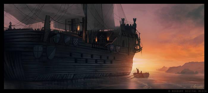 Boarding the Ship
