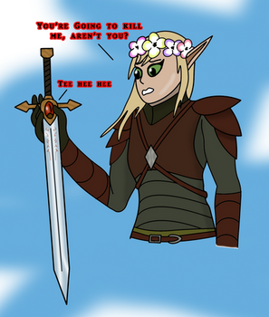 An Elf and her sword