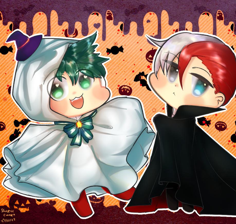 Izuku- Todoroki Halloween fanart by Sweetie-Cube