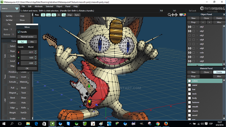 Meowth's Party Papercraft W.I.P. by darcrash