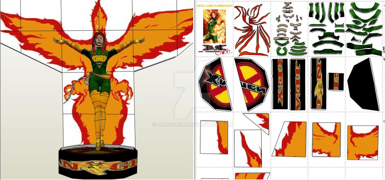 Fenix X-Men Papercraft by darcrash
