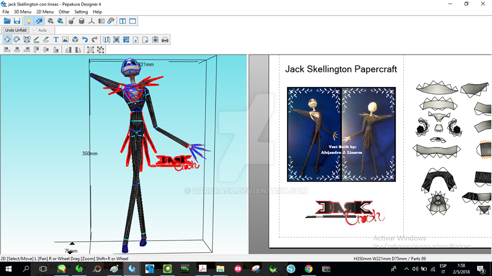 Jack Skellington Papercraft by darcrash