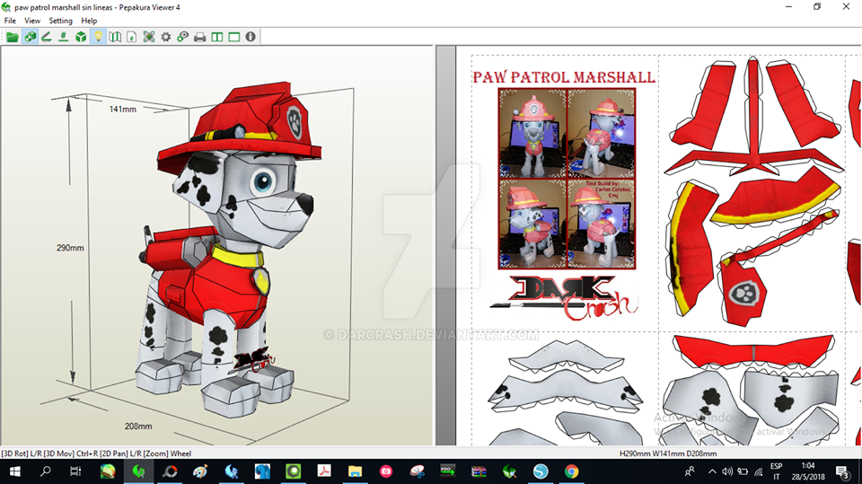 Paw Patrol Marshall Papercraft by darcrash