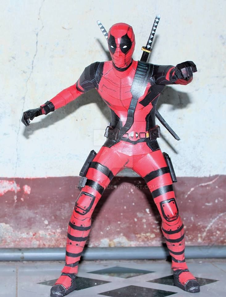 Deadpool The Movie Papercraft by darcrash
