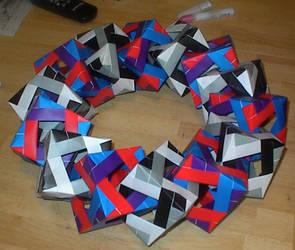 Origami Wreath by TsukiGoKim