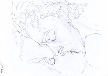 Crimson Peak Love Scene by PencilDrawnArt