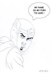 Loki The Scream of Youth by PencilDrawnArt
