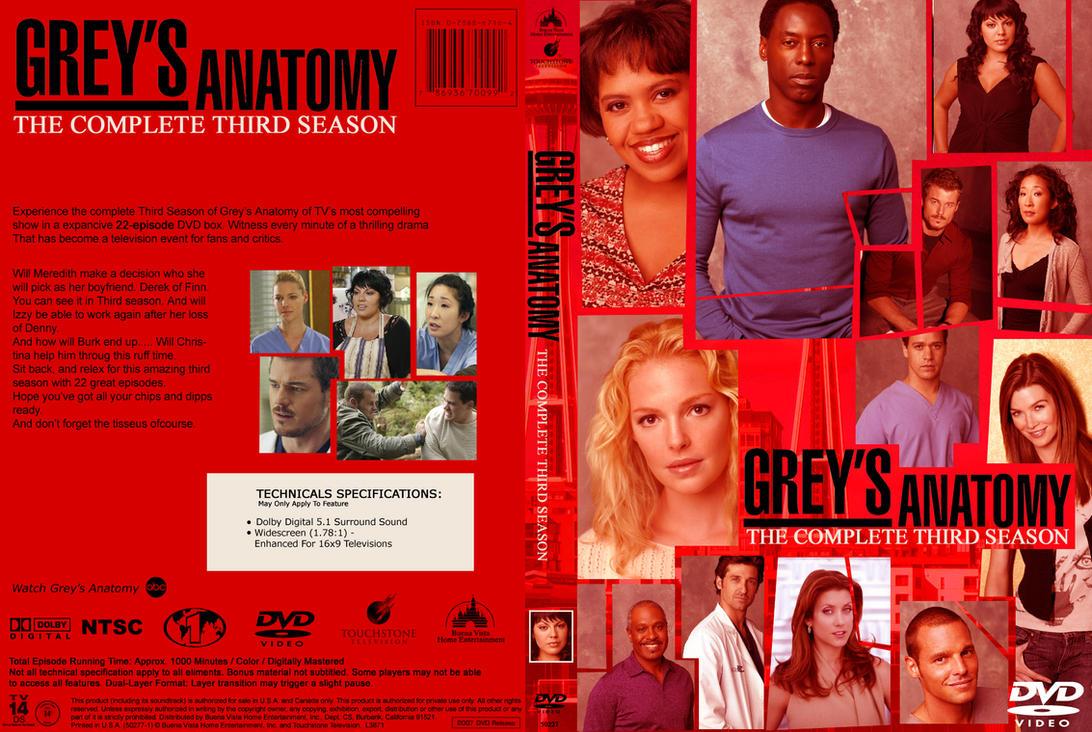 Greys Anatomy S3 Dvd Cover By Tamarap On Deviantart