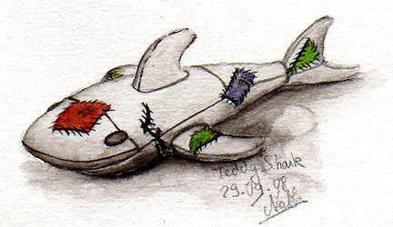 Teddy Shark by Romaeangel