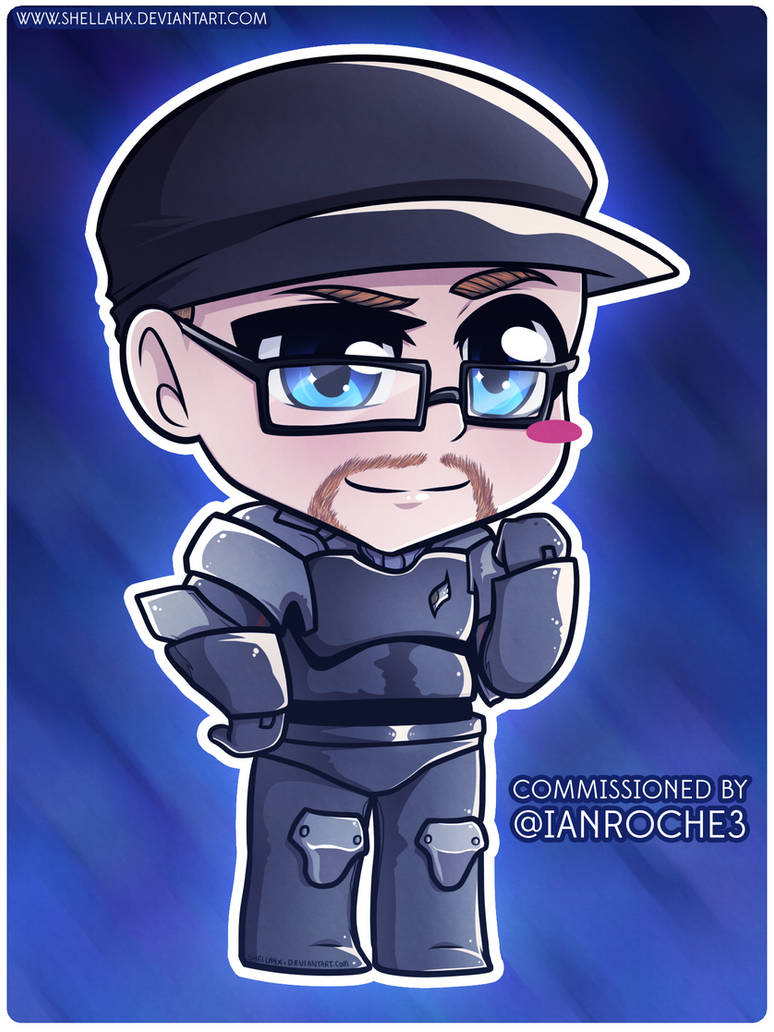 COMMISSION - Blue Gender Costume Chibi by Shellahx