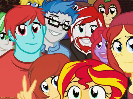 Selfie with Sunset Shimmer