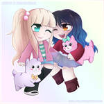 COMMISSION - AbiPop + Kelsey KimonoTime by Shellahx