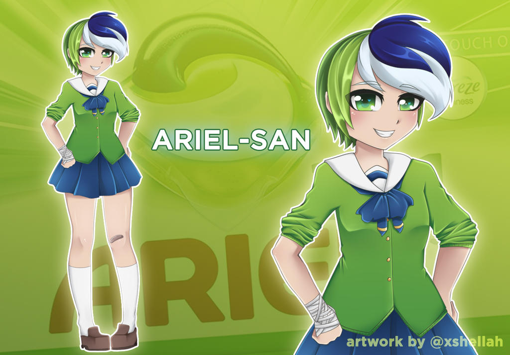 The Laundry Life of Tide Pod-chan!: Ariel-san by Shellahx on DeviantArt