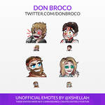 TWITCH EMOTES - DON BROCO (UNOFFICIAL)