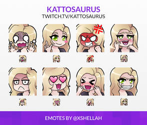 TWITCH EMOTES - KATTOSAURUS