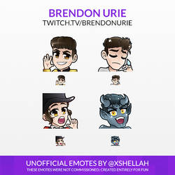 TWITCH EMOTES - BRENDON URIE (UNOFFICIAL)