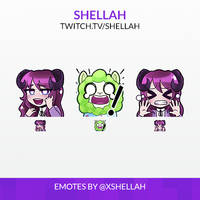 TWITCH EMOTES - SHELLAH
