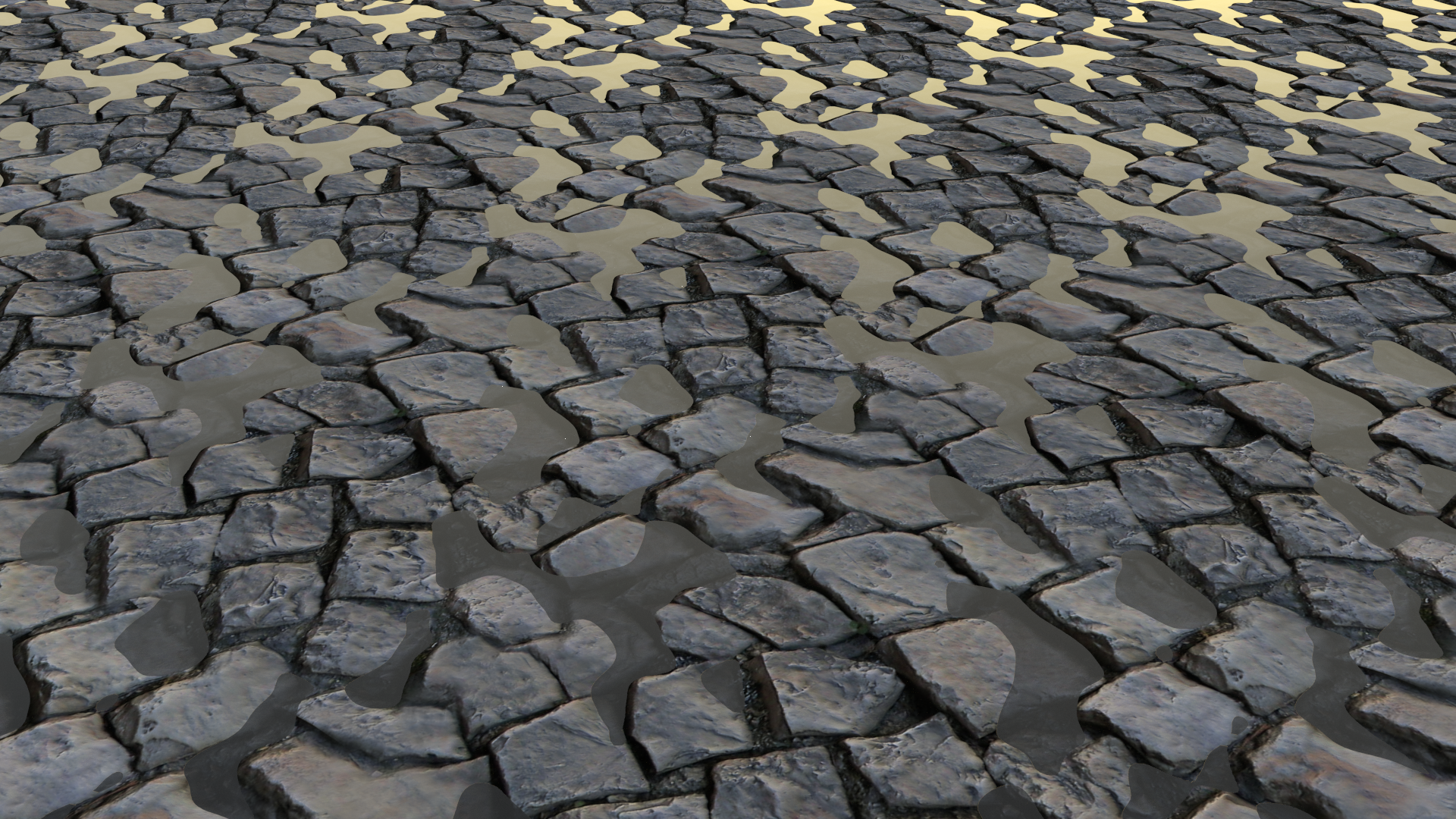 cobblestone with water by Shinkira