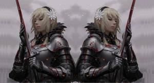 Sword girl wallpaper edit